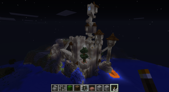 Minecraft wizard towers