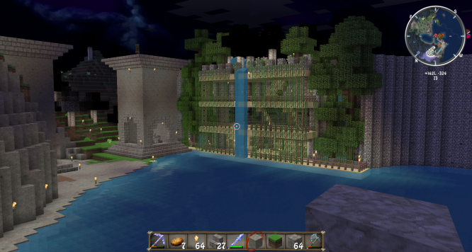 Minecraft giant sea wall