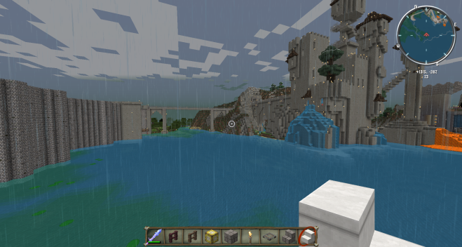 Minecraft epic sea wall