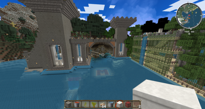 Minecraft finished seawall