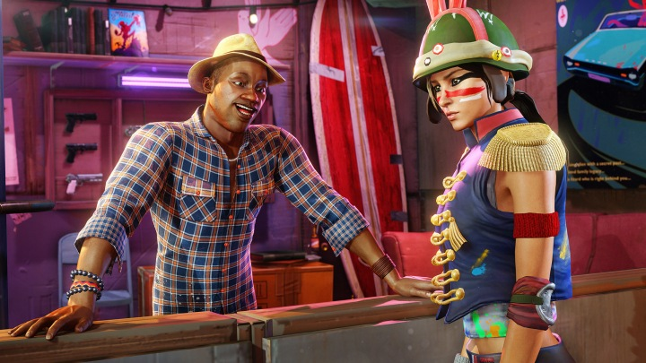 Character customization in Sunset Overdrive