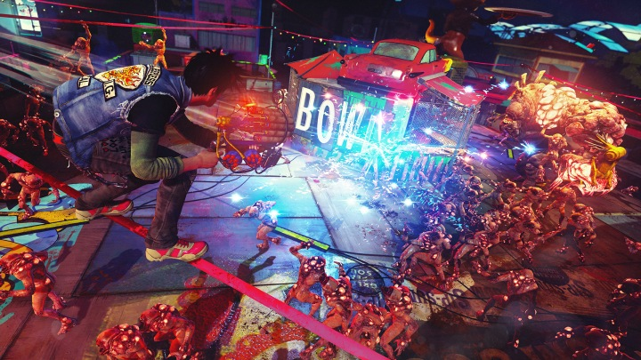 Sunset Overdrive Night Defense of the forts