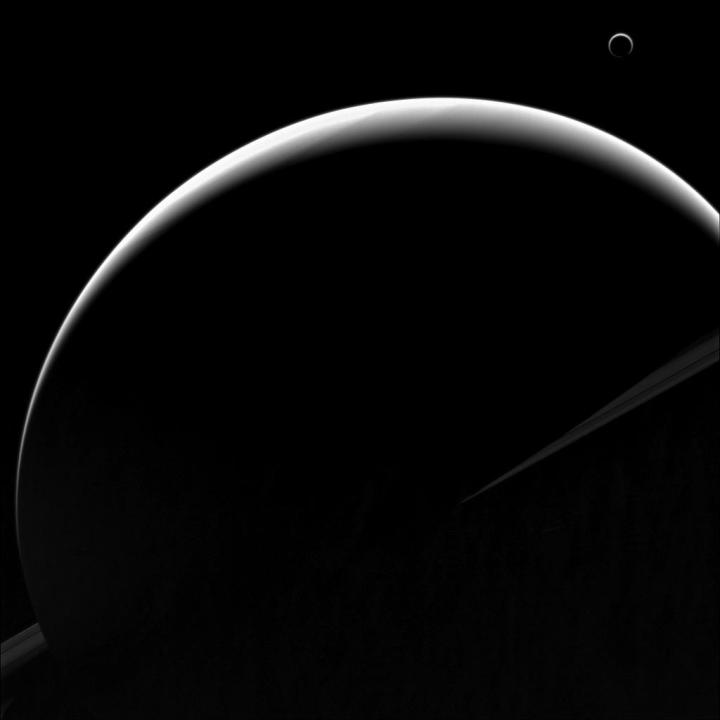 Saturn and Cassini as seen by the Cassini orbiter