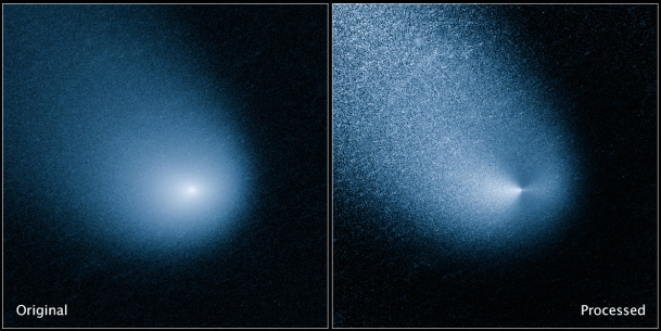 Comet Siding Spring, picture taken from the Hubble telescope