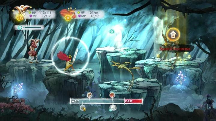 Child of Light battle sequence