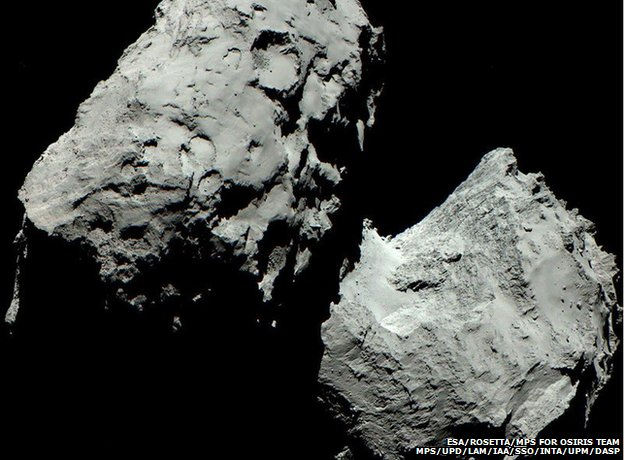 67P - taken from the Rosetta craft