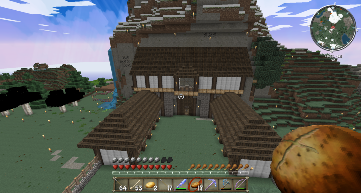 Minecraft Stables In Progress