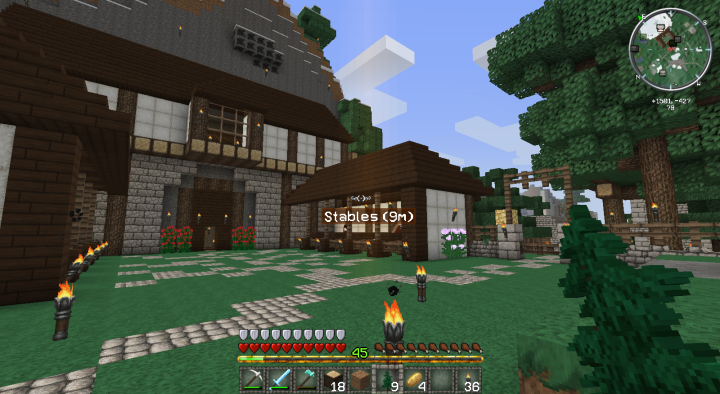 Minecraft Stables Front View