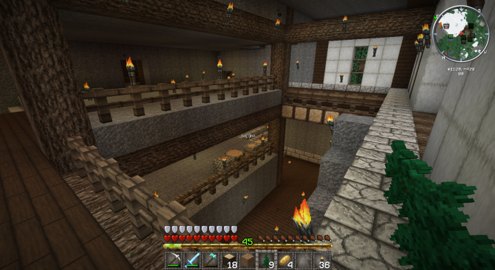 Minecraft Stables Interior shot from Top Floor